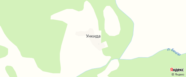 Хутнибская улица на карте хутора Ункиды с номерами домов