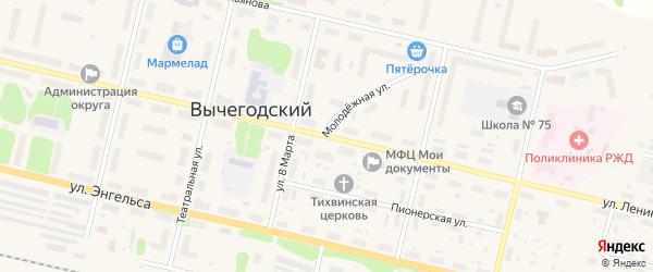 Улица Ленина на карте Вычегодского поселка с номерами домов