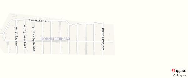 Улица Абдулмуслимшейха на карте села Гельбаха с номерами домов
