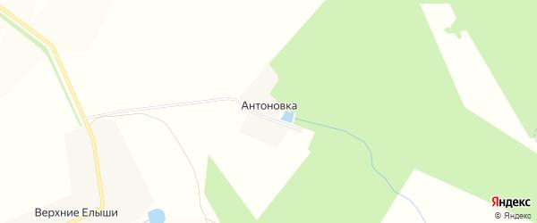 Карта выселков Антоновки в Чувашии с улицами и номерами домов