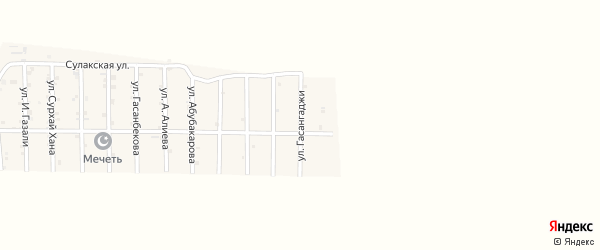 Улица Гасангаджи на карте села Гельбаха с номерами домов