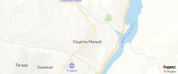 Карта села Гоцатля Малого в Дагестане с улицами и номерами домов