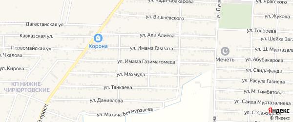 Улица Им Газимагомеда на карте Комсомольского села с номерами домов