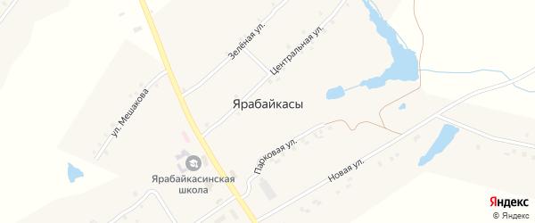 Молодежная улица на карте деревни Ярабайкас с номерами домов