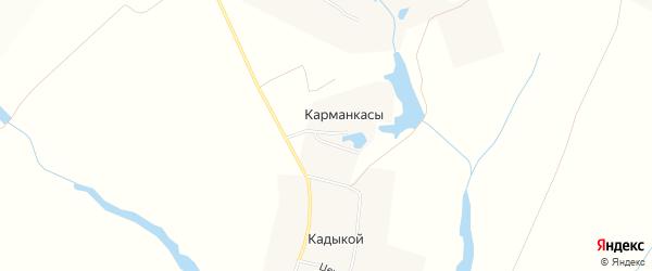 Карта деревни Карманкасы (Шатьмапосинское с/п) в Чувашии с улицами и номерами домов