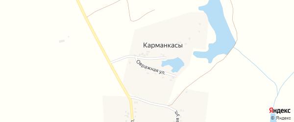 Овражная улица на карте деревни Карманкасы (Шатьмапосинское с/п) с номерами домов