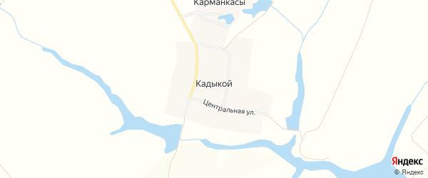 Карта деревни Кадыкоя в Чувашии с улицами и номерами домов