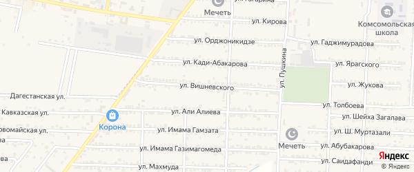 Улица Вишневского на карте Комсомольского села с номерами домов