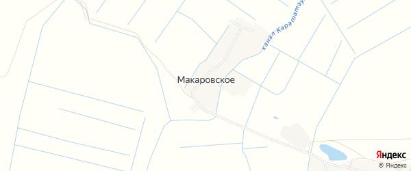 Карта Макаровского села в Дагестане с улицами и номерами домов