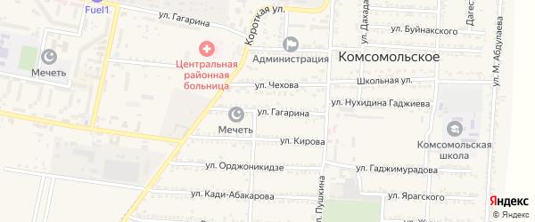 Улица Гагарина на карте Комсомольского села с номерами домов