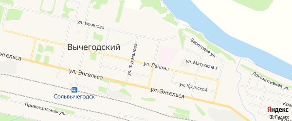 ГСК N21 на карте улицы Ленина с номерами домов