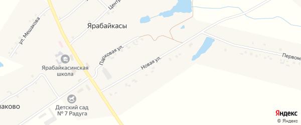 Новая улица на карте деревни Ярабайкас с номерами домов