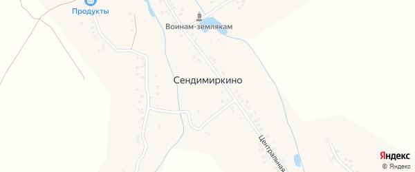 Овражная улица на карте деревни Сендимиркино с номерами домов