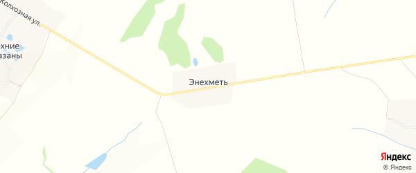 Карта деревни Энехмети в Чувашии с улицами и номерами домов