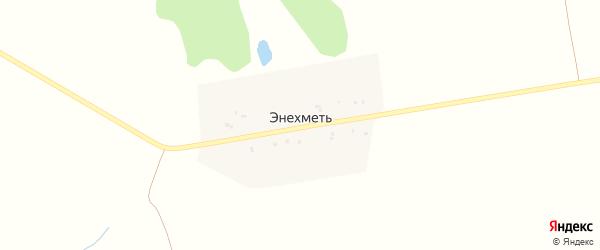 Октябрьская улица на карте деревни Энехмети с номерами домов