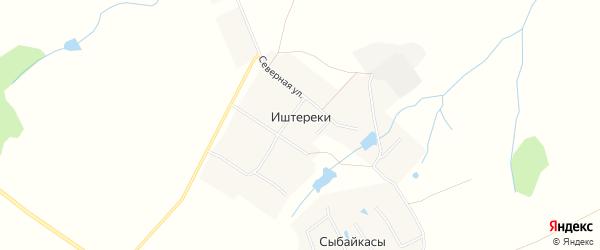 Карта деревни Иштереки в Чувашии с улицами и номерами домов