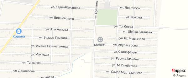 Улица Пушкина на карте Комсомольского села с номерами домов