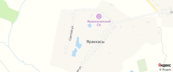 Светлая улица на карте деревни Яраккас с номерами домов