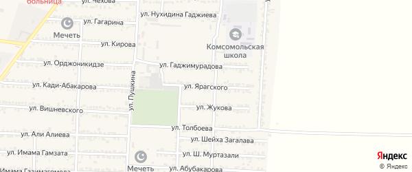 Улица Ярагского на карте Комсомольского села с номерами домов