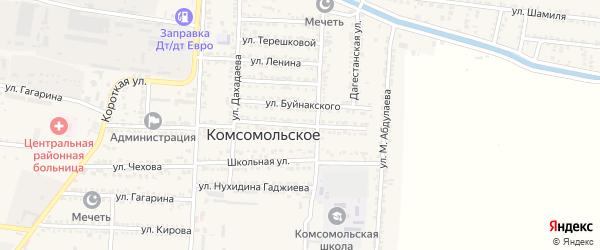 Пионерская улица на карте Комсомольского села с номерами домов