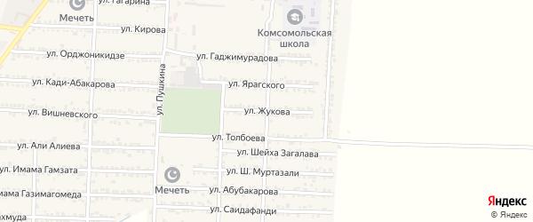 Улица Жукова на карте Комсомольского села с номерами домов