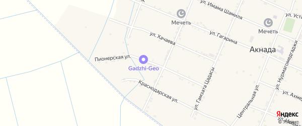 Пионерская улица на карте села Акнады с номерами домов