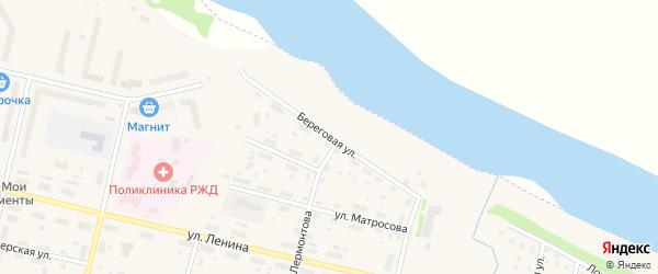 Береговая улица на карте Вычегодского поселка с номерами домов