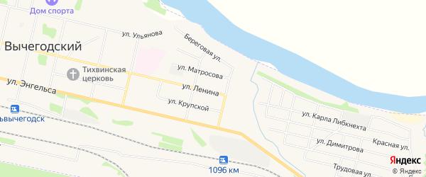 ГСК N3 на карте улицы Ленина с номерами домов