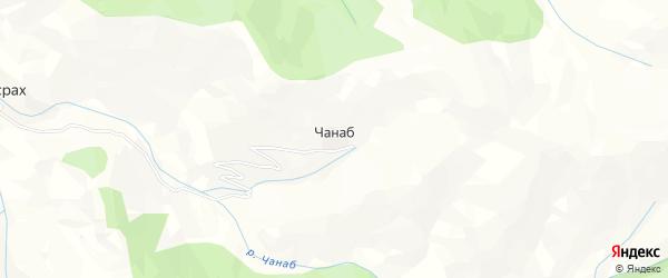 Карта села Чанаба в Дагестане с улицами и номерами домов