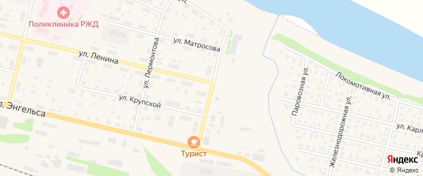 Парковая улица на карте Вычегодского поселка с номерами домов
