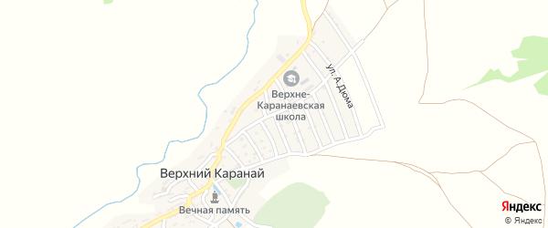 Улица Магомедрасулова на карте села Верхнего Караная с номерами домов