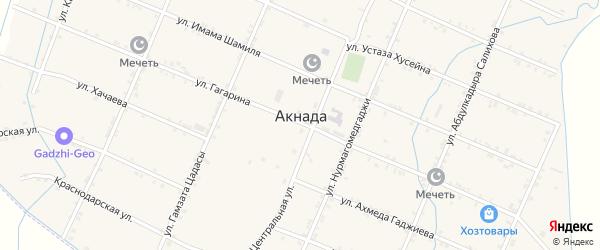 Улица Имама Газимагомеда на карте села Акнады с номерами домов