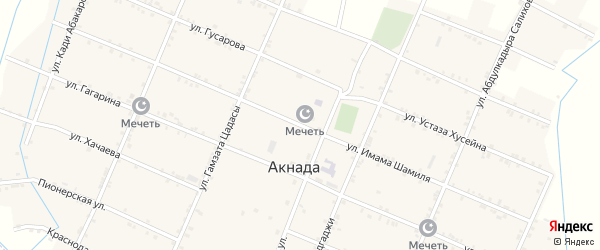 Улица Шамиля на карте села Акнады с номерами домов
