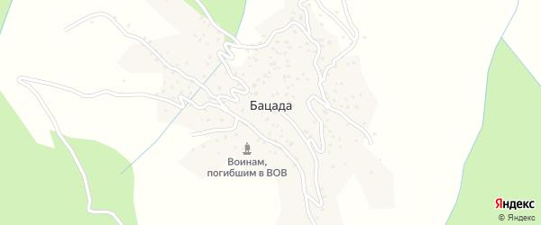 Куллабская улица на карте села Бацады с номерами домов
