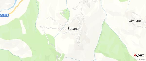 Карта села Бацады в Дагестане с улицами и номерами домов