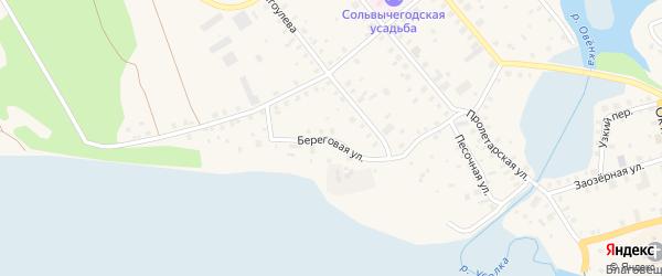 Береговая улица на карте поселка СКТ Авиатора-2 с номерами домов