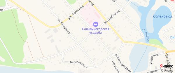 Улица Горбунова на карте Сольвычегодска с номерами домов