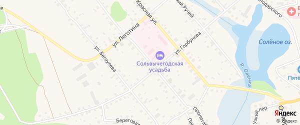 Пролетарская улица на карте Сольвычегодска с номерами домов