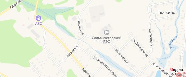 Лесная улица на карте Сольвычегодска с номерами домов