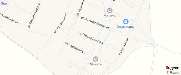 Улица Им Гамзата на карте села Акнады с номерами домов