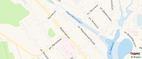 Улица Леготина на карте Сольвычегодска с номерами домов