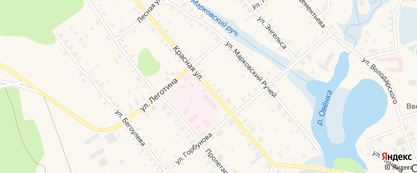 Красная улица на карте Сольвычегодска с номерами домов