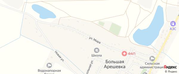 Улица Мира на карте Новокохановского села с номерами домов