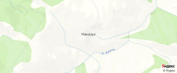 Карта села Наказуха в Дагестане с улицами и номерами домов