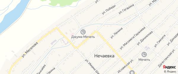 Улица Гагарина на карте села Нечаевки с номерами домов