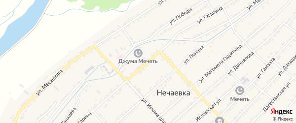 Улица Гагарина на карте села Султанянгиюрта с номерами домов