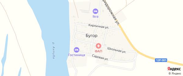 Кирпичный переулок на карте поселка Бугра с номерами домов