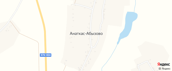 Почтовая улица на карте деревни Анаткас-Абызово с номерами домов