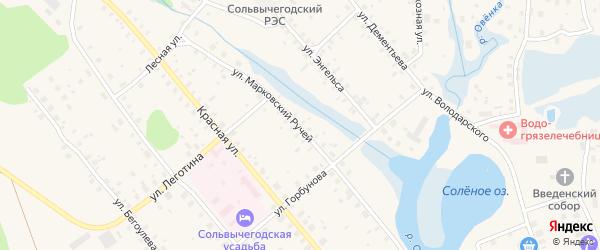 Улица Марковский Ручей на карте Сольвычегодска с номерами домов