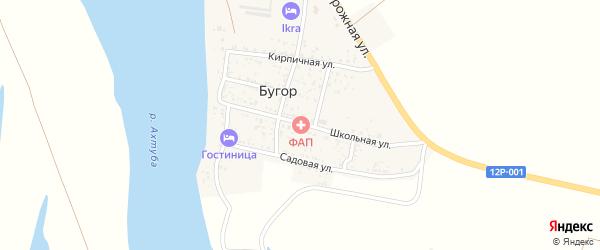 Школьная улица на карте поселка Бугра с номерами домов